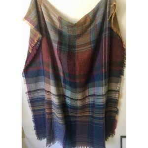 Accessories - Soft Cozy Plaid Blanket Scarf